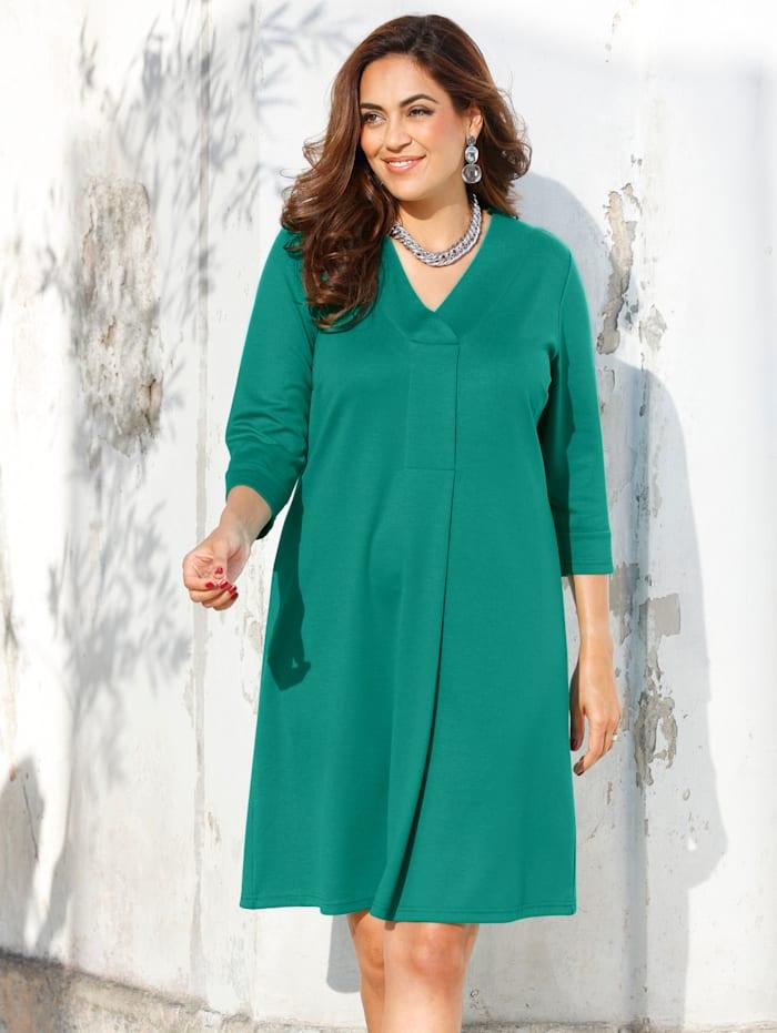 MIAMODA Kleid mit streckendem Ausschnitt, Grün