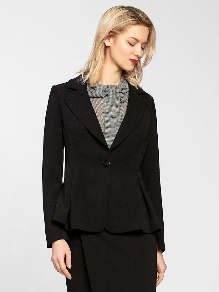 APART Blazer mit tailliertem Schnitt, schwarz