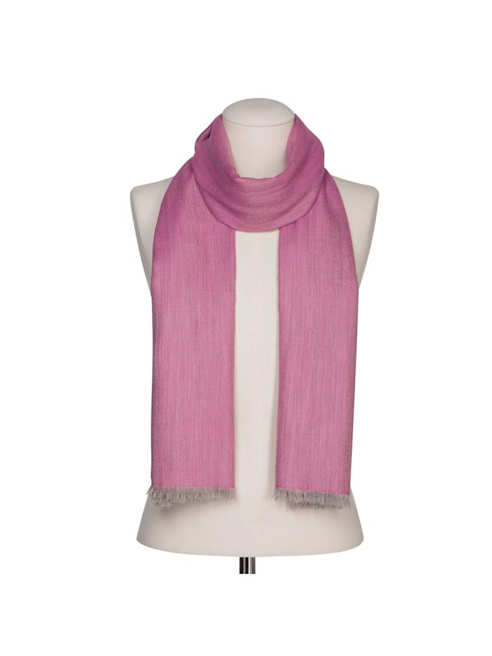 Fischgrät-Schal aus feinster Wolle