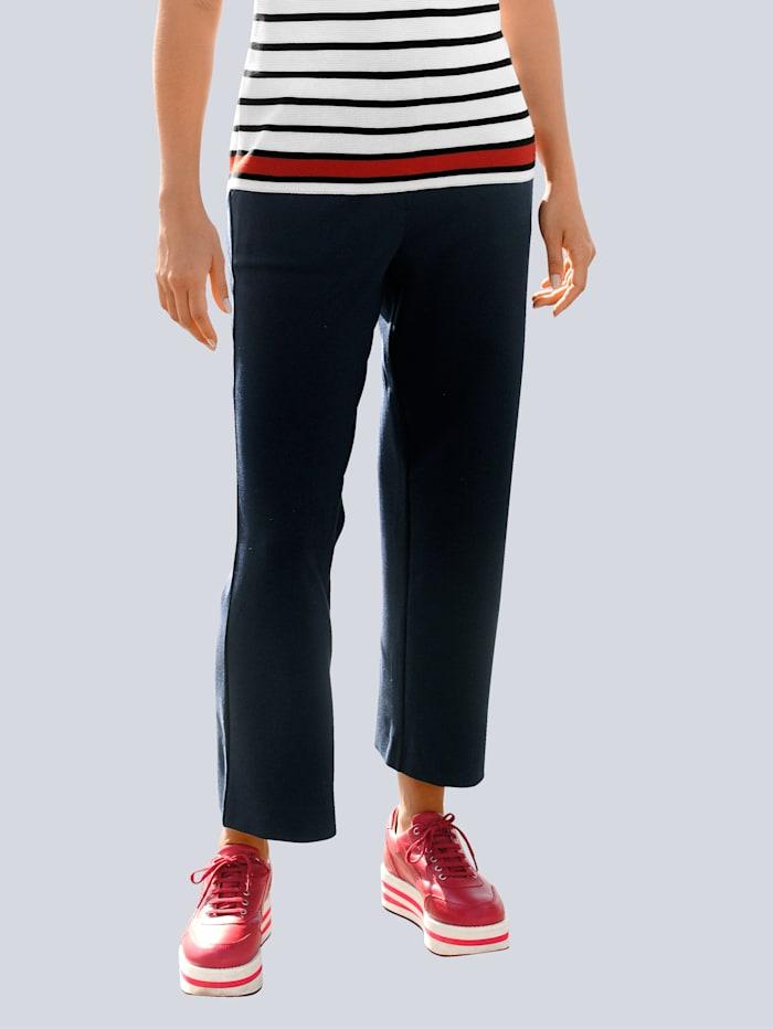 Alba Moda Culotte in elastischer Jerseyware, Marineblau