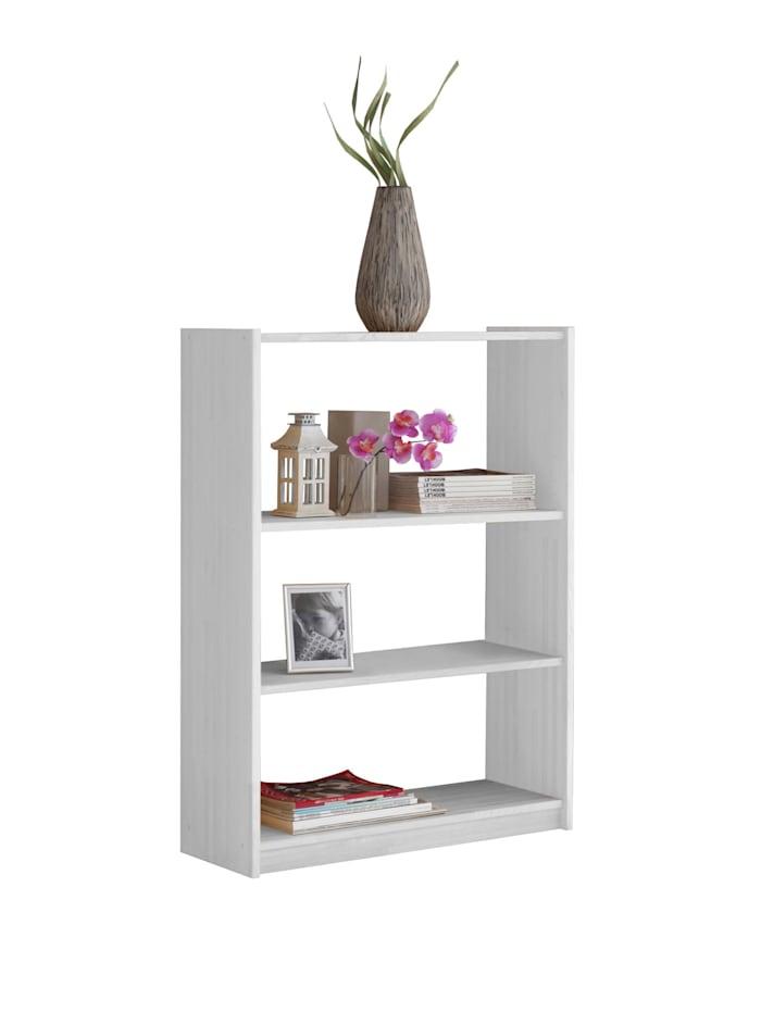Standregal Bücherregal Kiefer Weiß, verschied. Größen