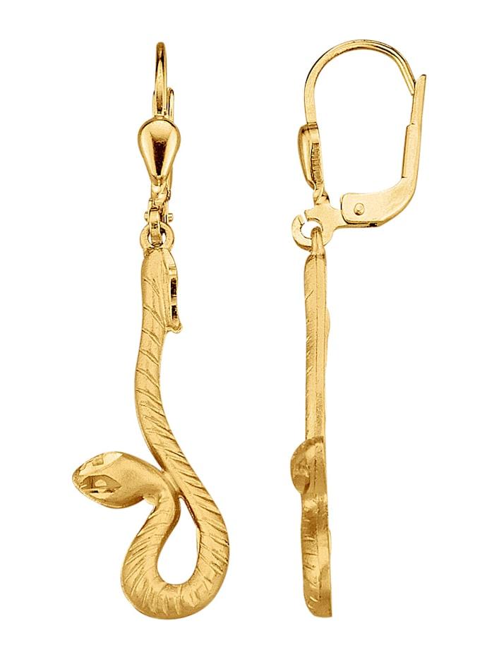Amara Highlights Ohrringe diamantiert, Gelbgoldfarben