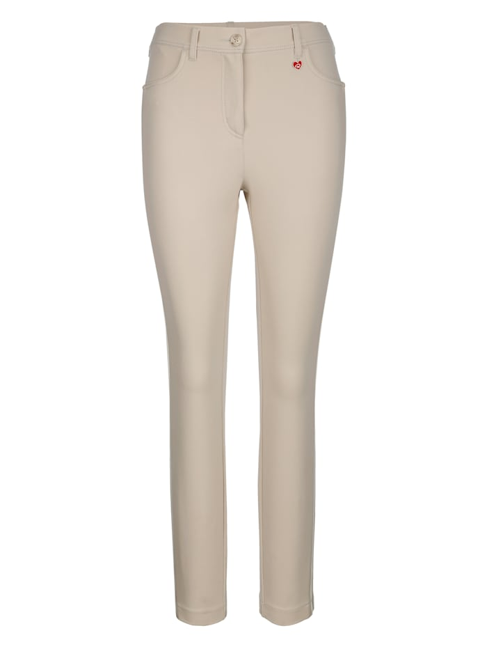 Trousers Made from shape-retaining jersey