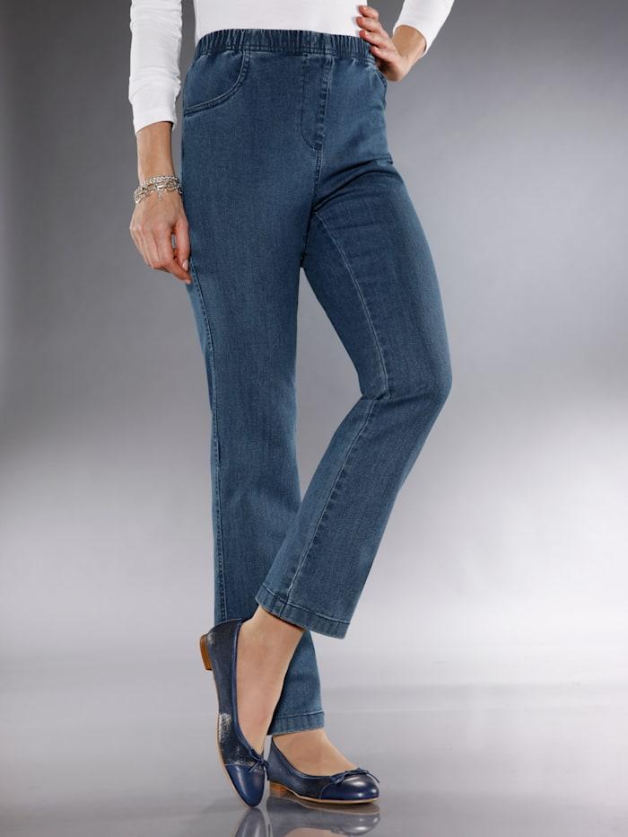 Paola Jeans in bequemer Schlupfform, Dunkelblau