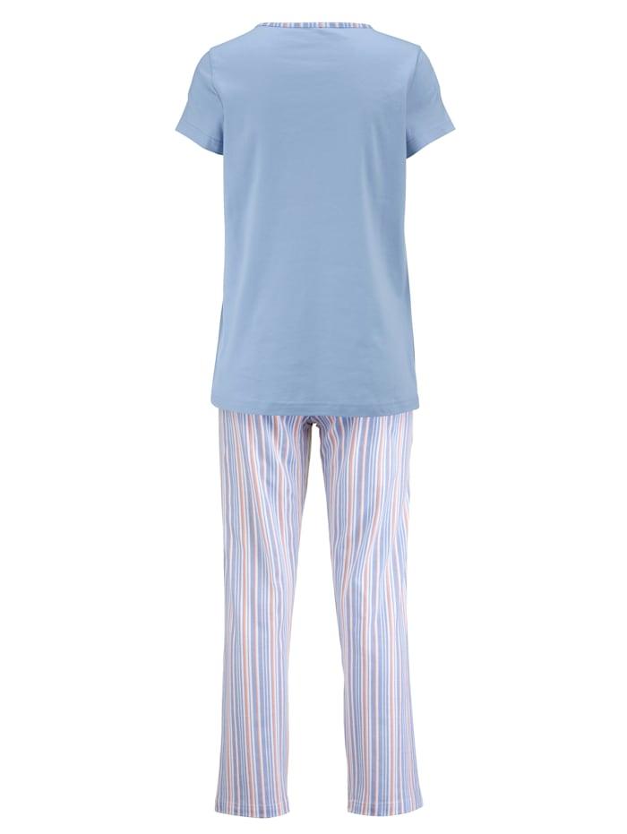 Schlafanzug im zeitlosem Streifen-Dessin 2er Pack