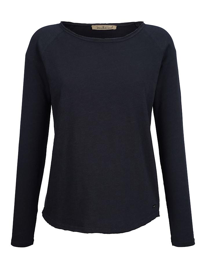 Smith & Soul Sweatshirt in leichter Baumwollqualität, Marineblau