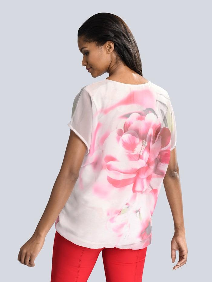Lagenbluse mit romantischem Blütenprint