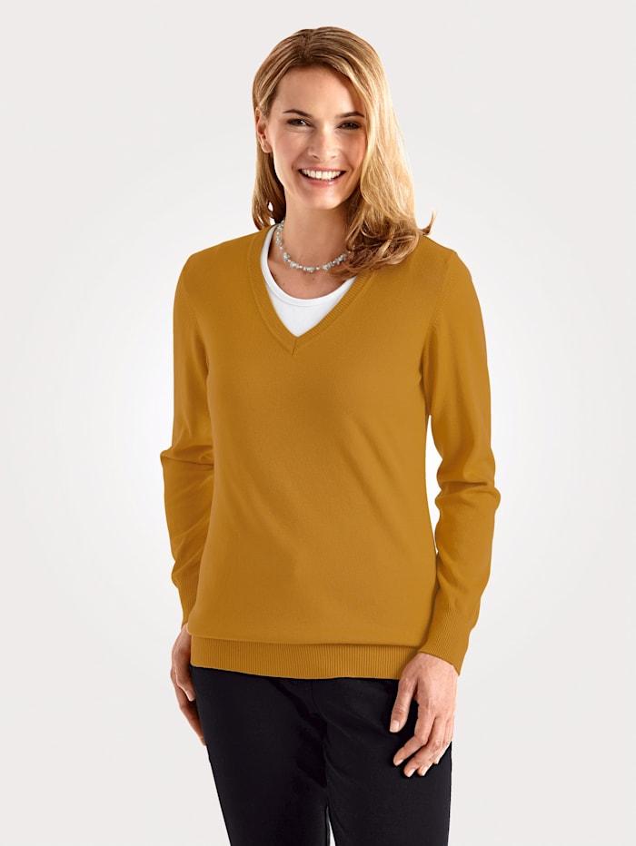 MONA Pullover in Traumhaft-Qualität, Ockergelb