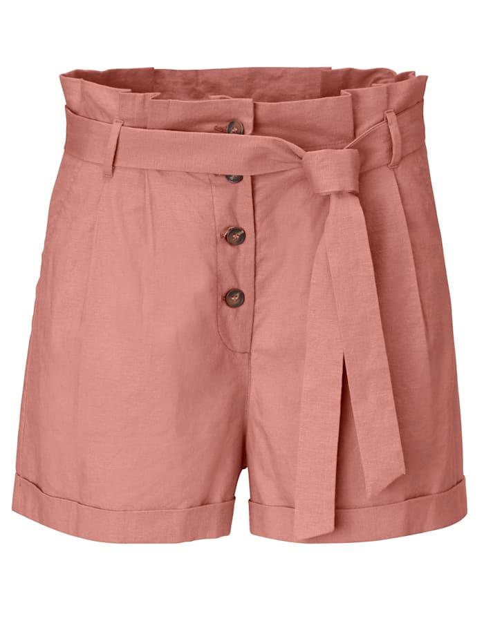 REKEN MAAR Paperbag-Shorts, Rosé