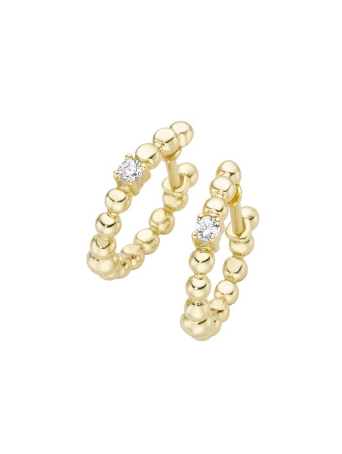 Luigi Merano Klappcreolen aus Kugeln mit Brillanten, Gold 585, Gold