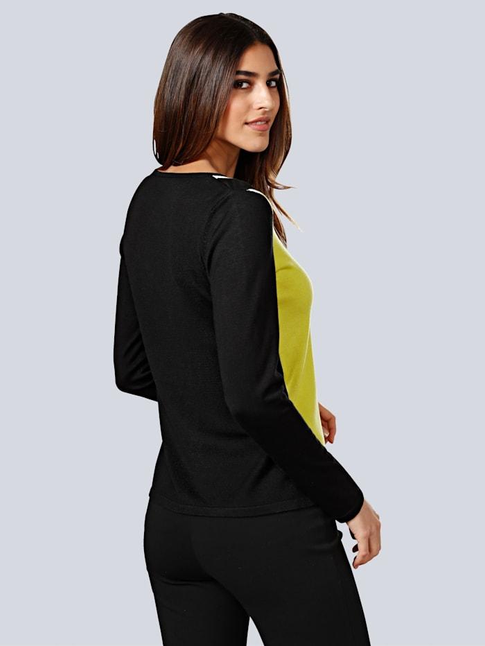 Pullover mit frischem Farbakzent