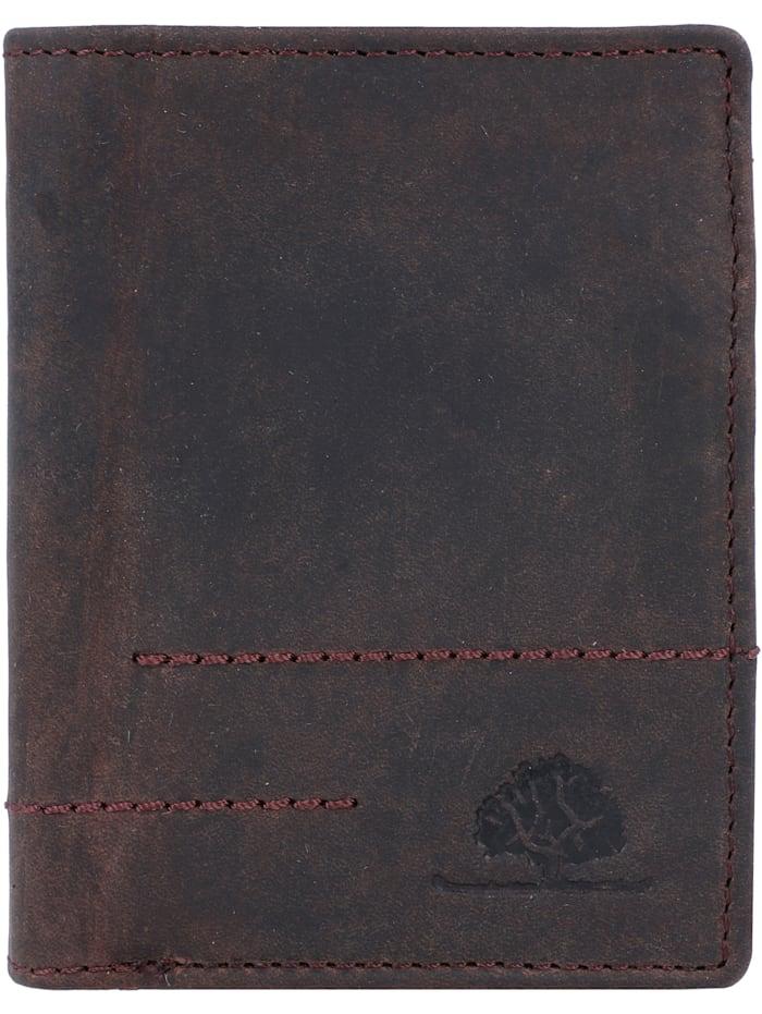 Greenburry Vintage Revival Geldbörse Leder 8,5 cm, tobacco