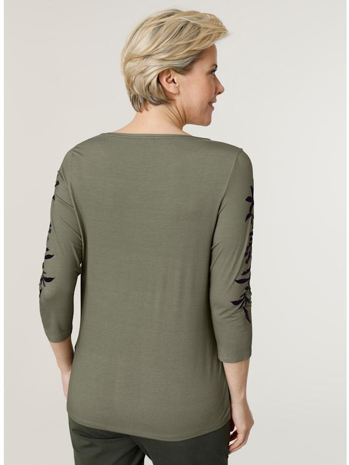 Shirt mit tonigem Flockdruck
