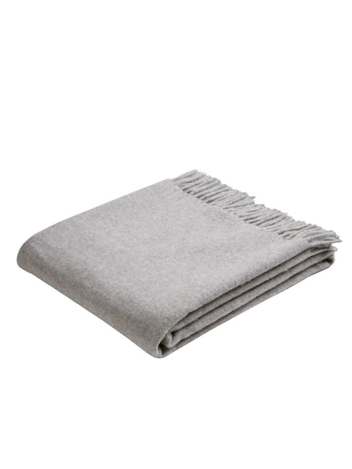 biederlack Schurwoll-Plaid, Silber Wool