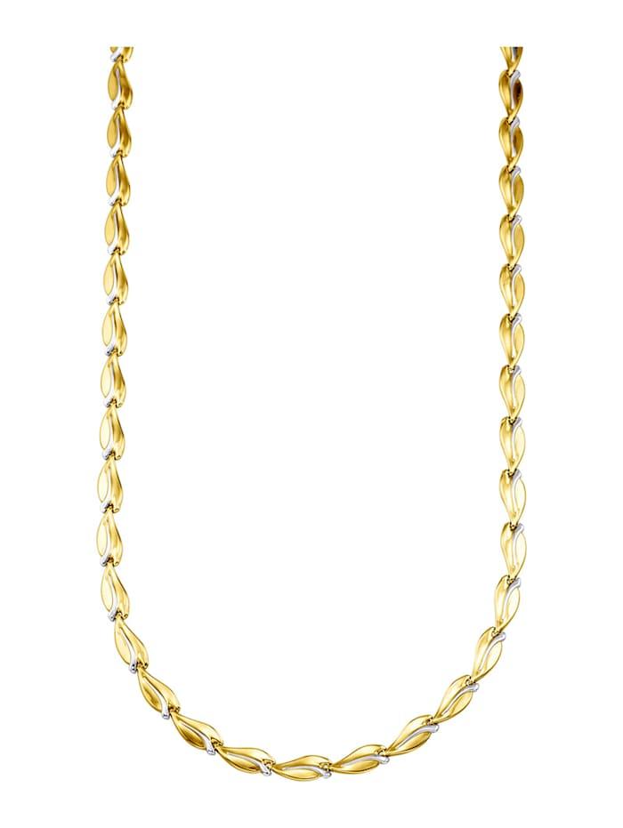 Halsband i 9 k guld, Guldfärgad