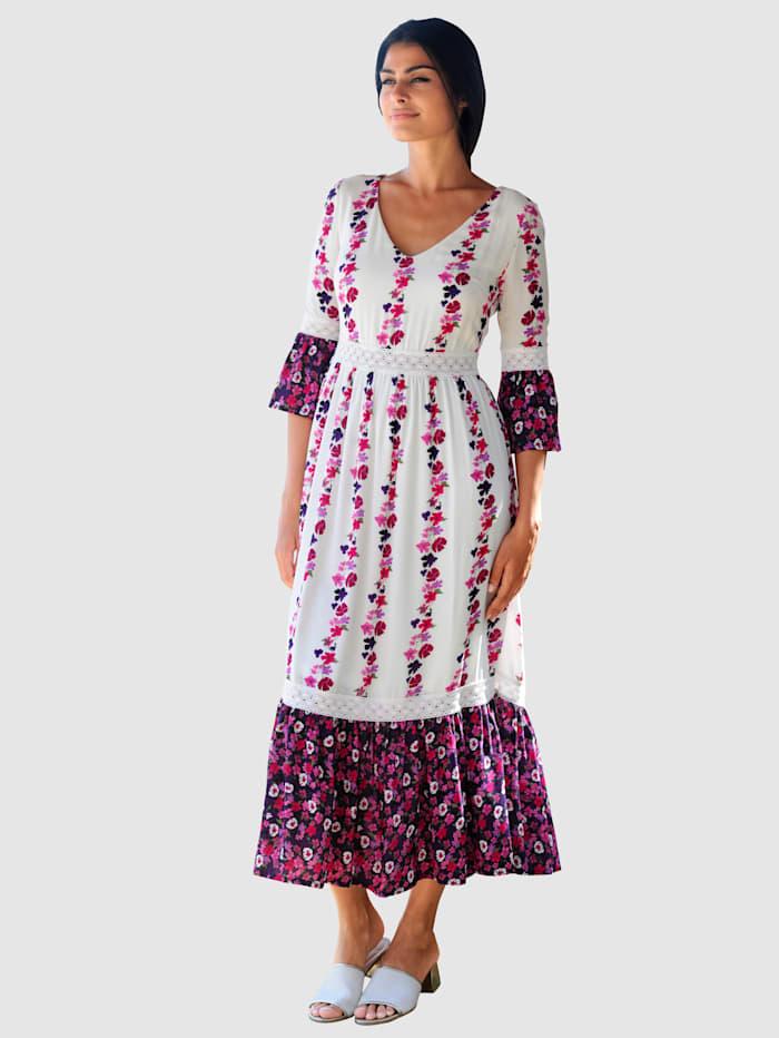 Alba Moda Strandkleid im Romantiklook, Weiß