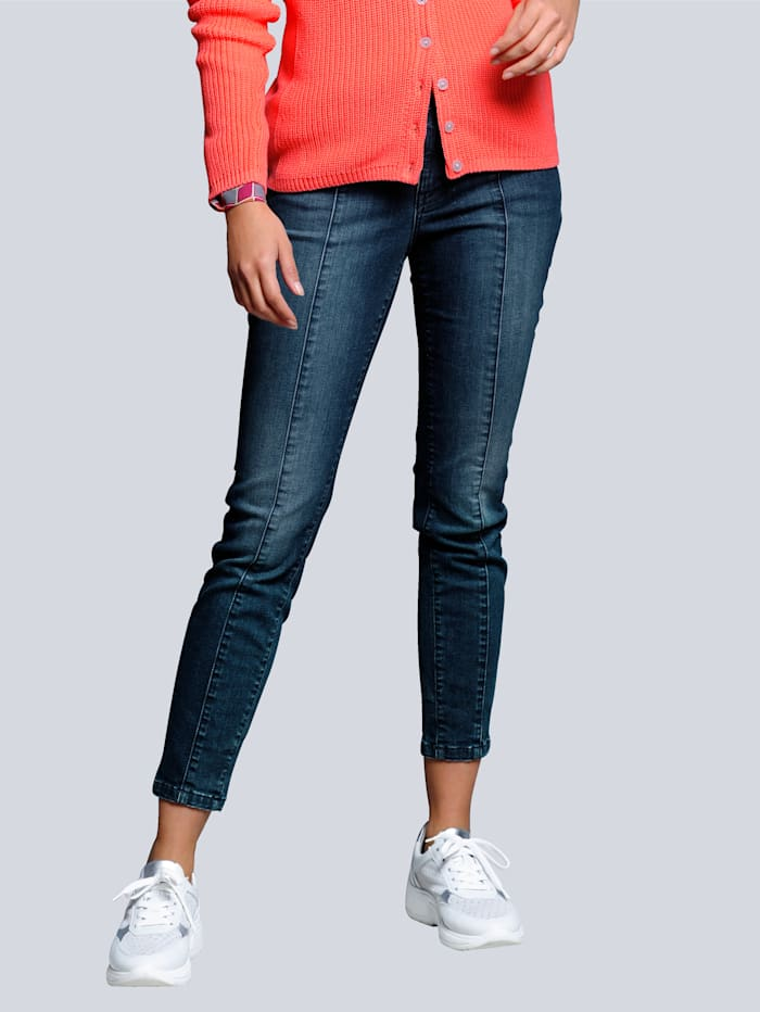 Alba Moda Džínsy s nitmi na vreckách, Dark blue