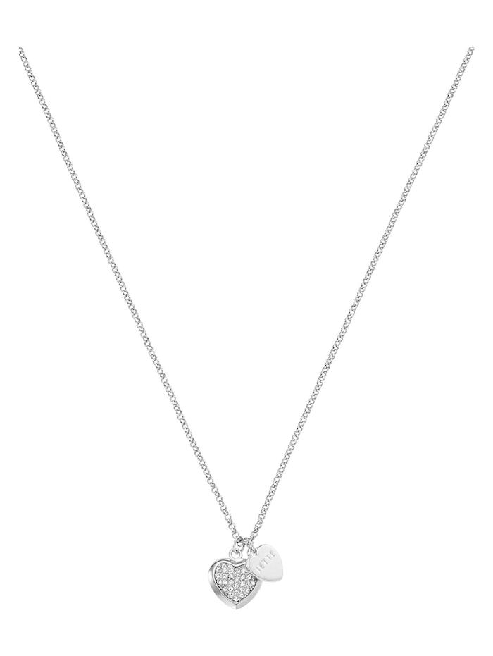 Jette JETTE Silver Damen-Kette 925er Silber 34 Kristall, silber