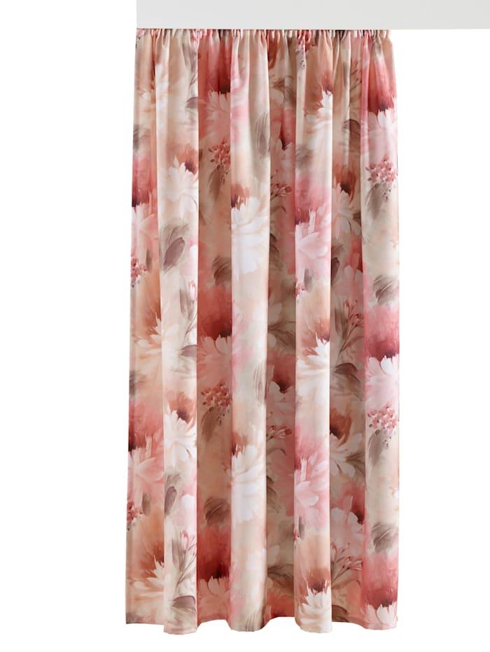 Home Wohnideen Dekoračná záclona Dalia, ružová
