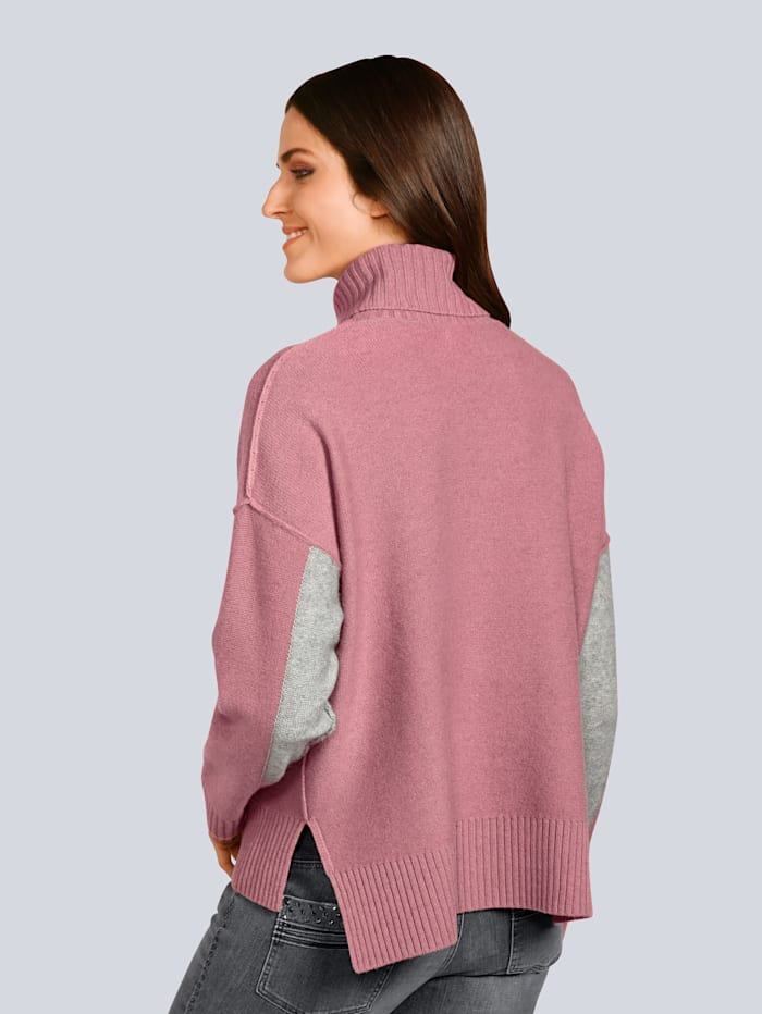Pullover mit großem Rollkragen