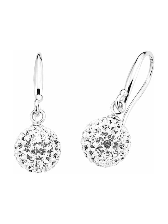 amor Ohrring für Damen, Sterling Silber 925, Kristallglas, Silber