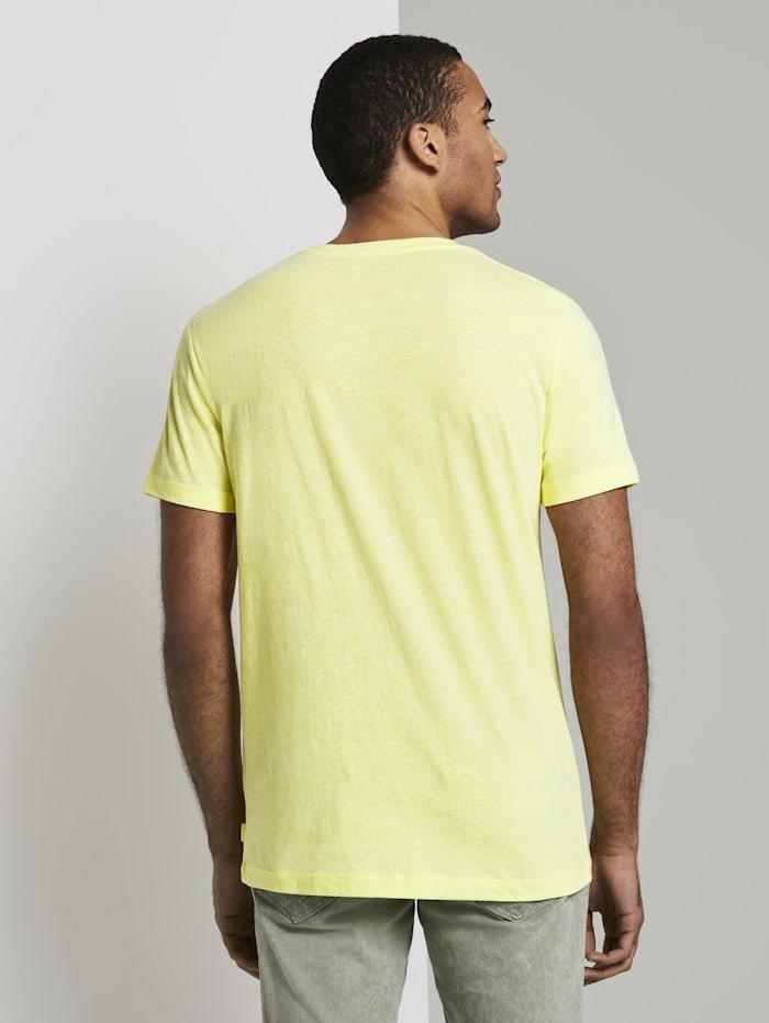T-Shirt aus Melange Stoff