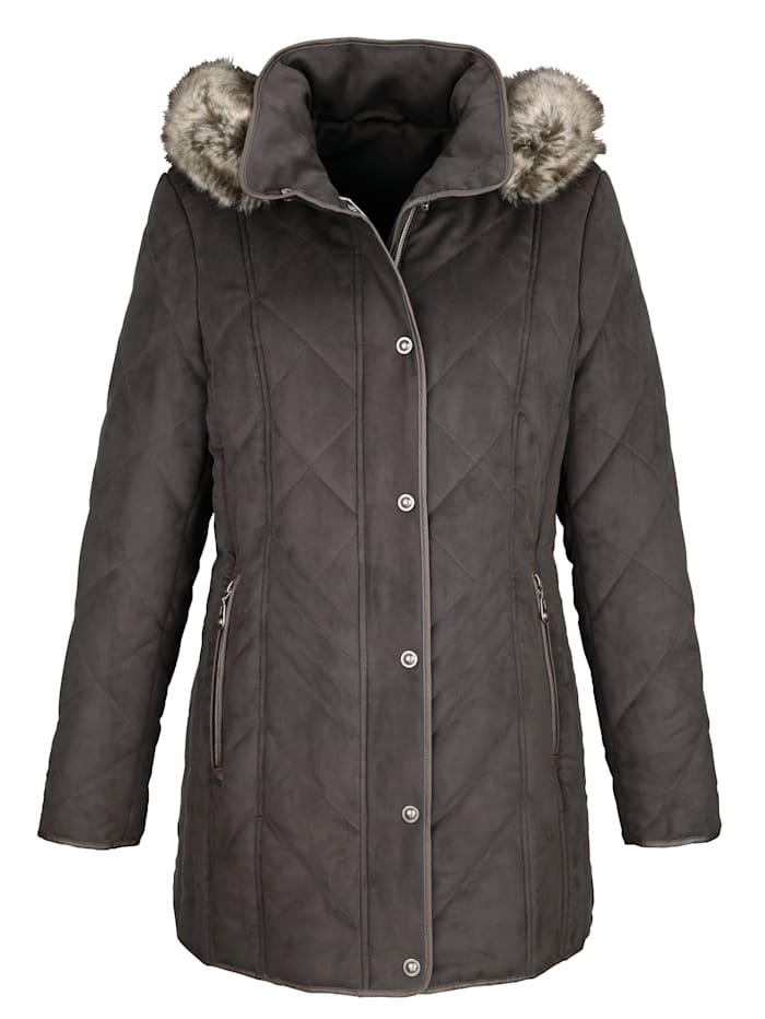 Jacket made from soft microfibres