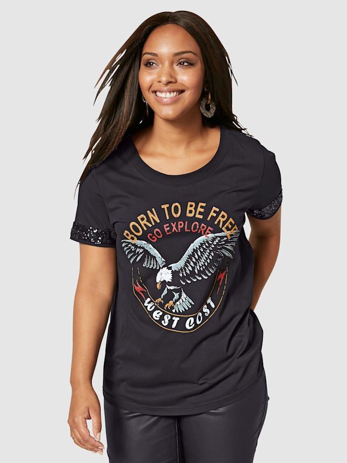 Angel of Style T-shirt en pur coton, Noir