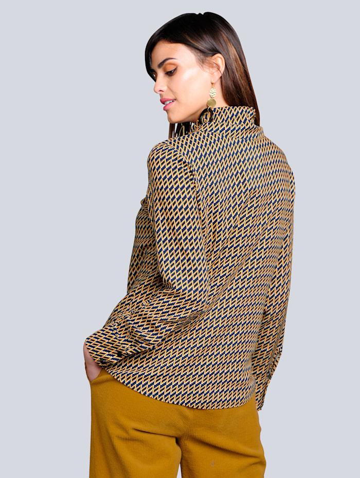 Bluse im exklusiven Dessin von Alba Moda