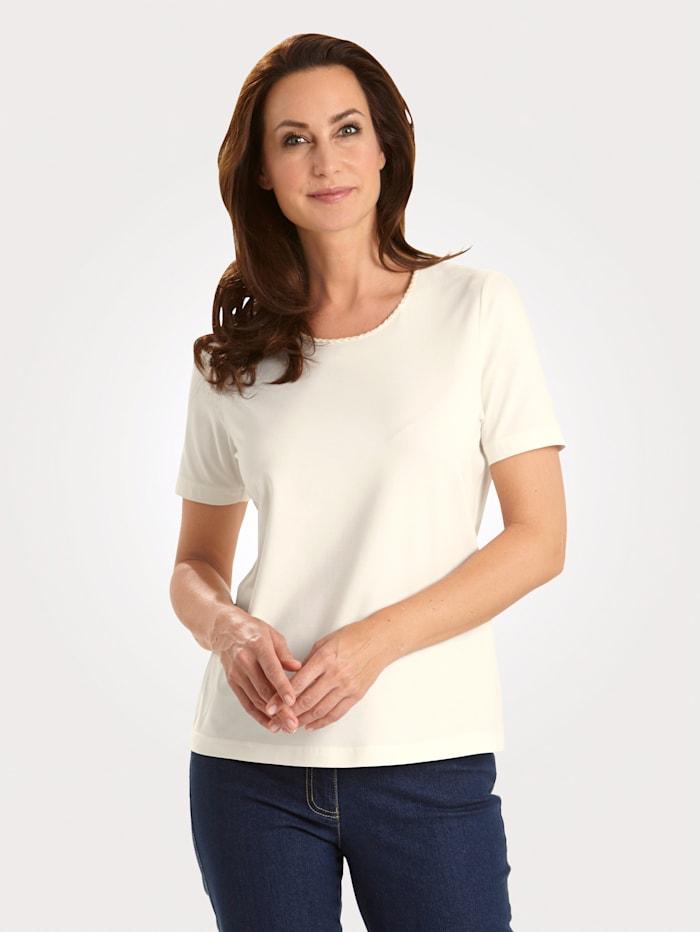 MONA Shirt mit Pima Baumwolle, Ecru