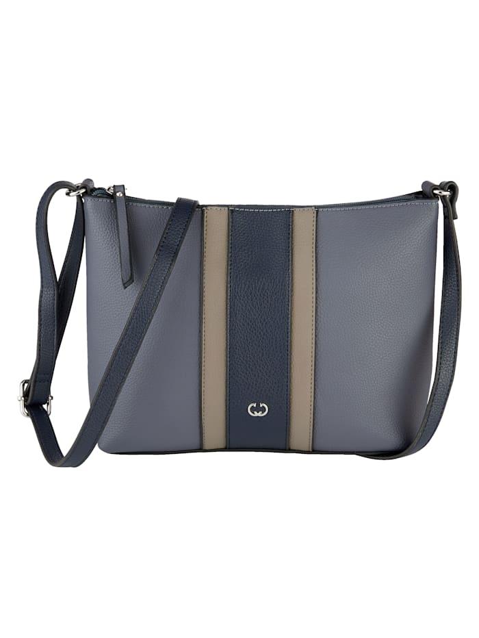 Shoulder bag with stripes