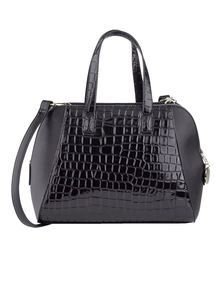 Handtasche mit Krokoprägung