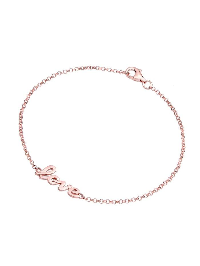 Armband Love-Schriftzug 925 Sterling Silber