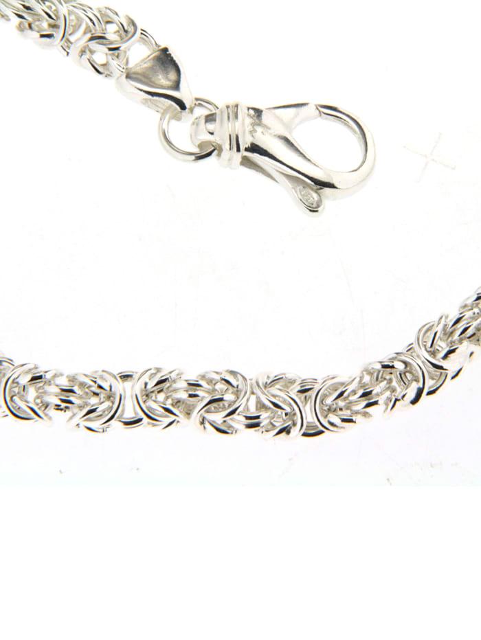 Grazielli Königskette in Silber 925, Weiß