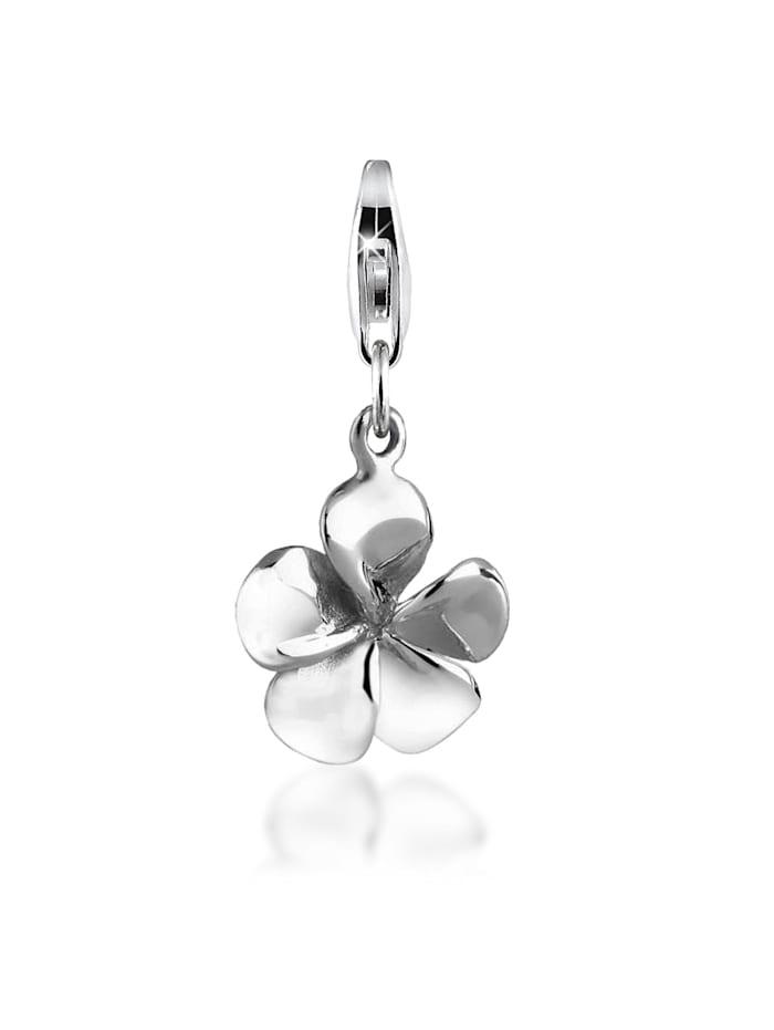 Nenalina Charm Anhänger Frangipani Blume Floral 925 Silber, Silber
