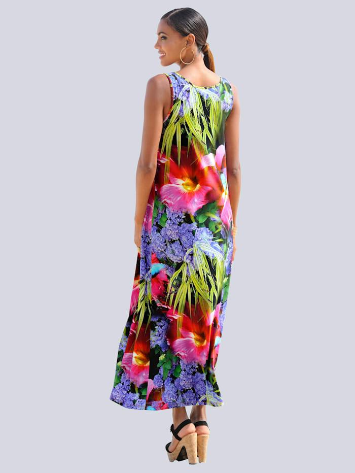 Strandkleid in tropischer Farbigkeit