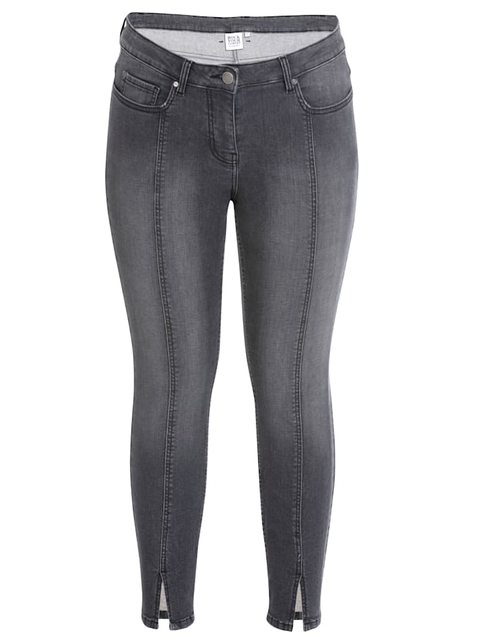Rock Your Curves by Angelina K Jeans im 5-Pocket-Style, Grey