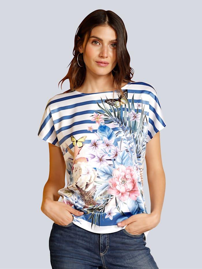T-Shirt mit großflächigem Druck im Vorderteil