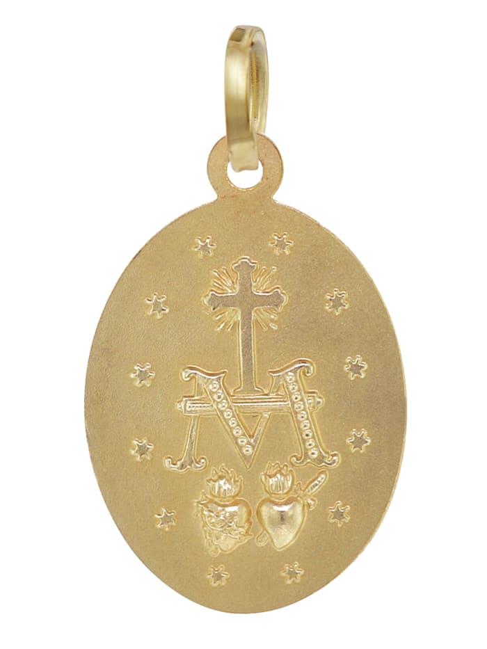 Madonna Milagrosa Gold-Anhänger 8 Karat 16 mm