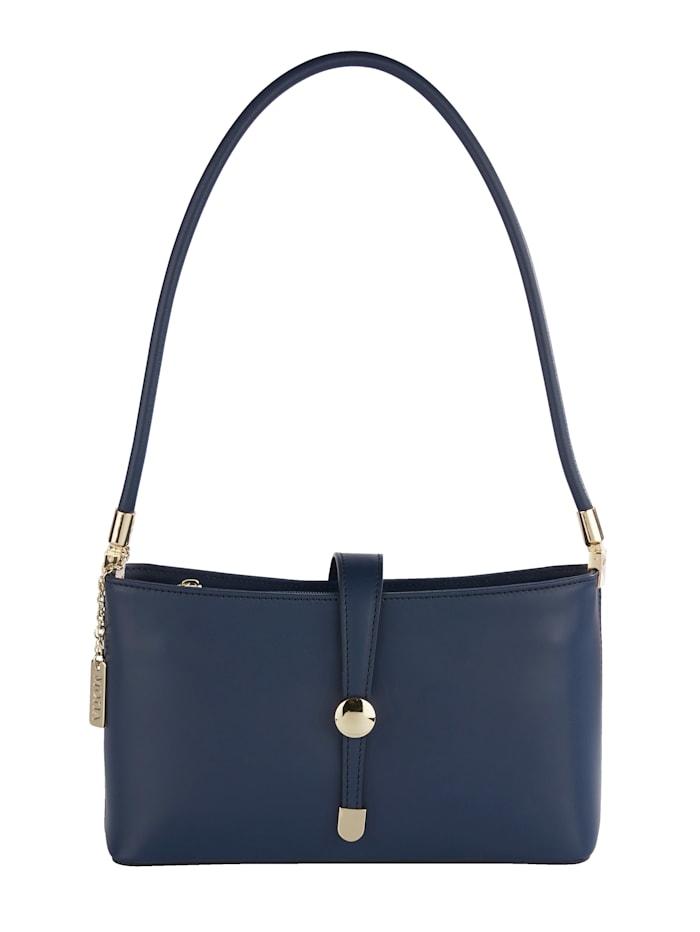 Handtasche aus edlem Leder, Marineblau