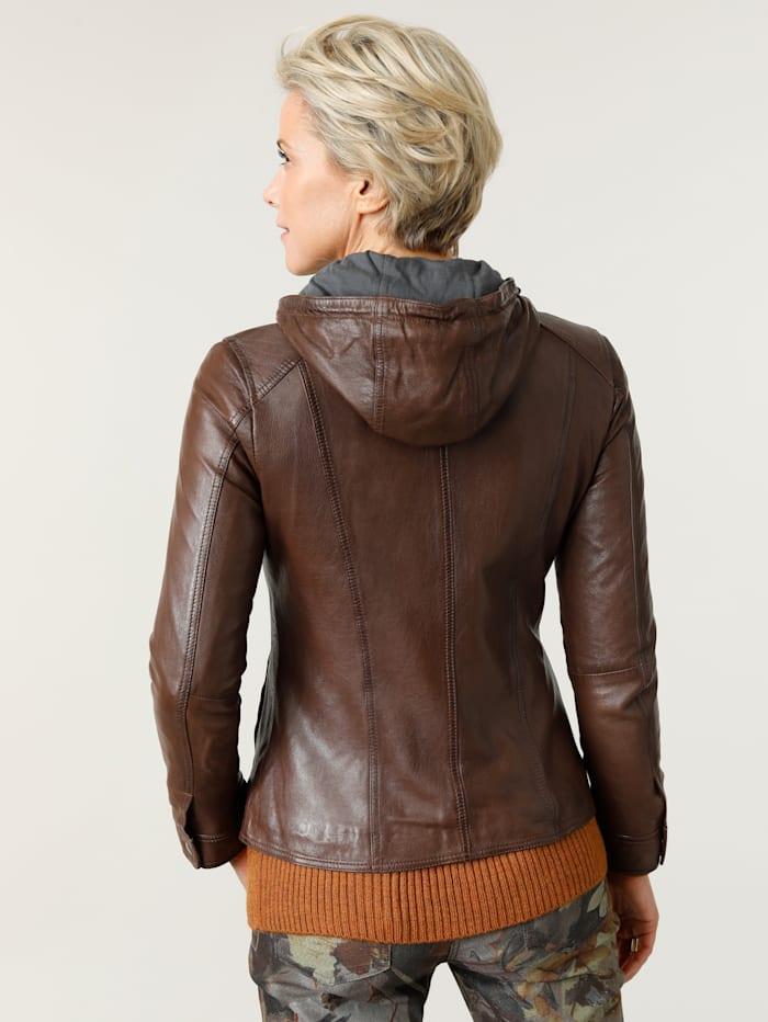 Kožená bunda z nejjemnější jehněčí nappa