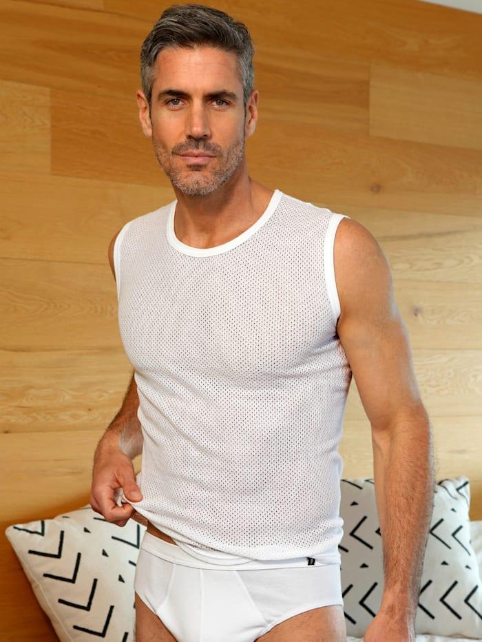Mouwloos shirt van comfortabel materiaal, Wit