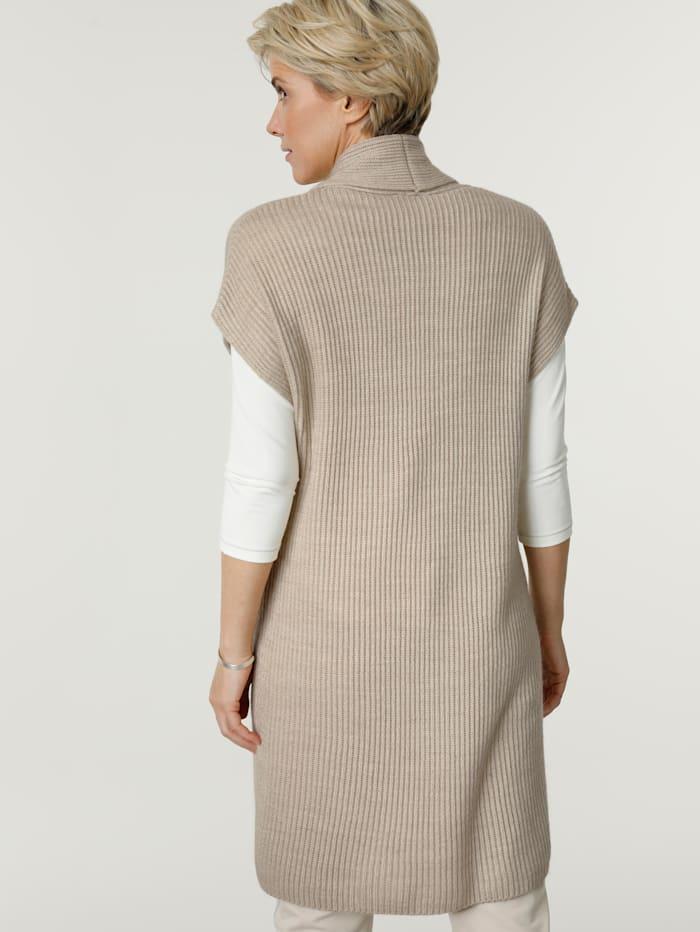 Gilet maille sans manches en laine mélangée