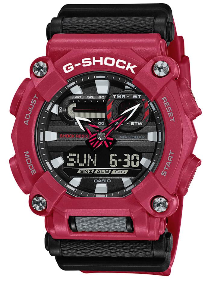 Casio G-Shock Herrenuhr Rot/Schwarz, Schwarz