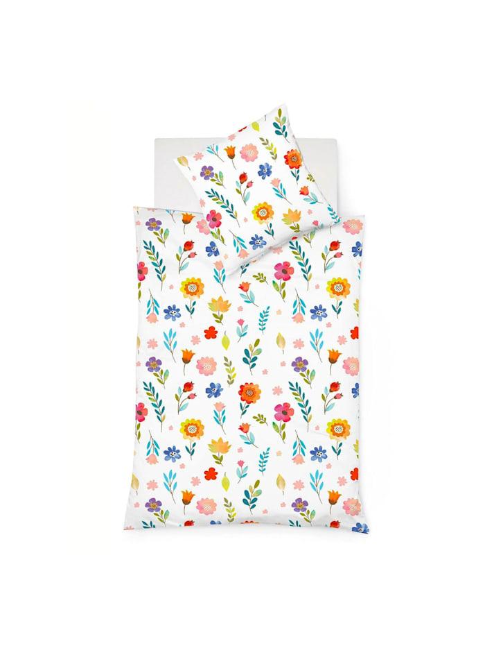 Fleuresse Mako-Satin Bettwäsche Bed Art S Lindesberg multicolor, multicolor