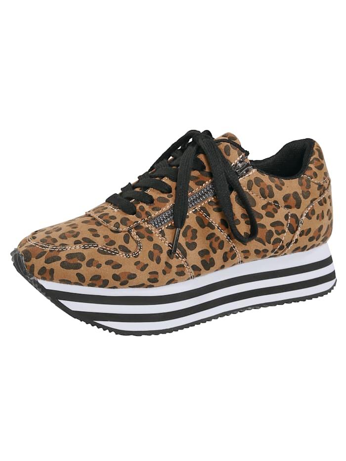 Priority Sneaker met verderlichte EVA-zool, Bruin
