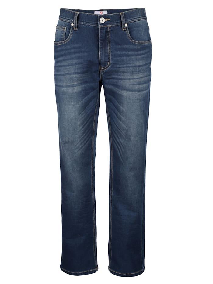 Jog-denim kalhoty v pohodlné sweat kvalitě