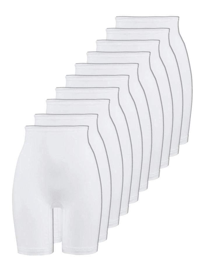 Naturana 10er Sparpack Damen Langbeinschlüpfer, Weiss