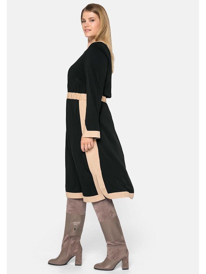 Sheego Kleid mit Kontrastdetails