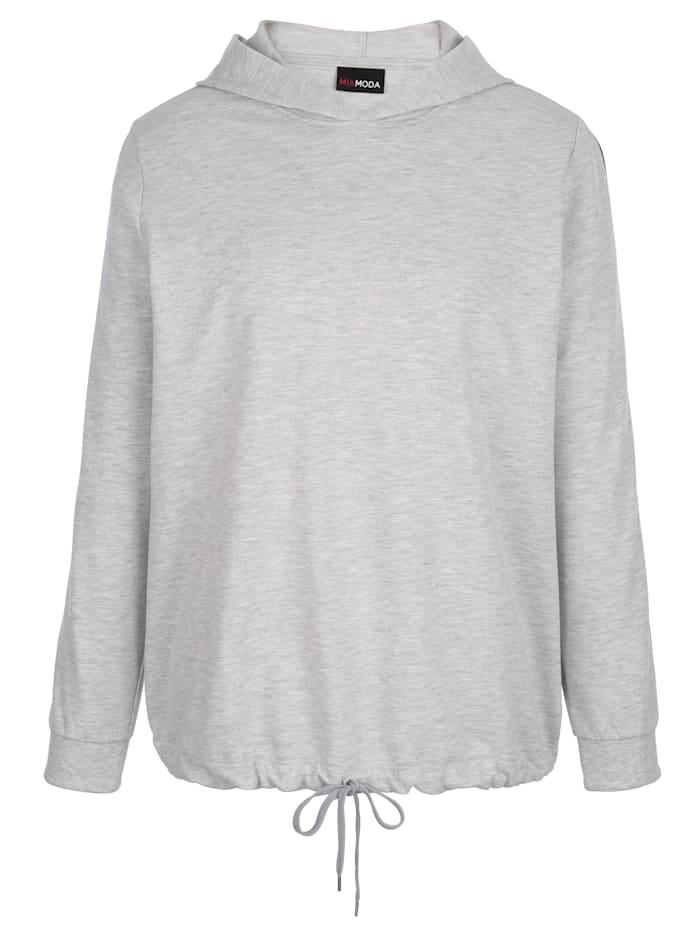 Sweat-shirt à bande fantaisie rayée aux manches